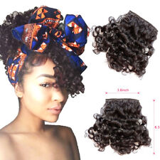 Clip in 100% Human Hair Curly Bangs Front Fringe Hairpiece Clip Hair Extensions