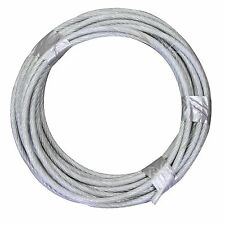 "1/8-3/16""  X 250' Vinyl Coated Aircraft Cable 7X7 Control Wire Rope Galvanized"