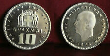 1965 Greece Proof 10 drachma-nice