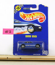 Hot Wheels BMW 850I Blue With Hoc BP149  B4