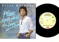 """CLIFF RICHARD.PLEASE DON'T FALL IN LOVE / TOO CLOSE TO HEAVEN.UK ORIG 7""""&P/SL.EX"""