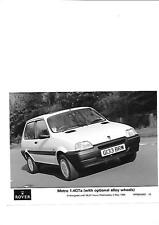ROVER METRO 1.4GTa WITH ALLOY WHEELS PRESS PHOTO MAY 1990 ' BROCHURE' CONNECTED