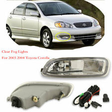 For Toyota Corolla 2003 2004 Clear Fog Lights Bumper Fog Driving Lamps OE Style