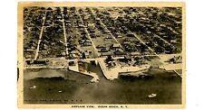 Ocean Beach LI NY -BIRDSEYE VIEW OF COTTAGES- Postcard Fire Island