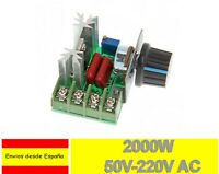 Regulador voltaje ajustable 50-220V AC 2000W 10A tension PWM Motor dimmer A0020