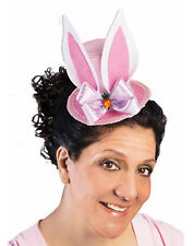 Mini Pink Womens Adult Easter Hat With Bunny Ears Holiday Accessory