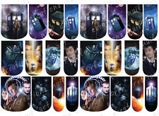 24 WATER SLIDE NAIL ART DECALS * DR WHO / TARDIS * FULL NAIL COVERS  / WRAPS