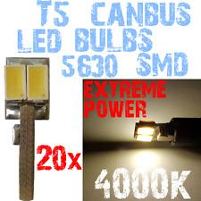 20 LED T5 5630 4000K Wit Licht Dashboard Interior Panel Instruments Bright 1D9 1