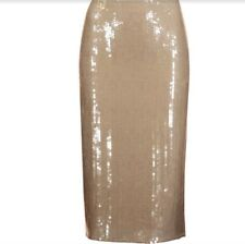 $2100 Nina Ricci Tan Sequin Pencil Knee-length Skirt,Tan-NWT SZE FR40