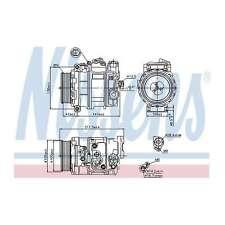 Fits Mercedes M-Class W164 ML 320 CDI 4matic Genuine Nissens Air Con Compressor