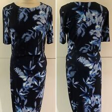 **REDUCED** Preloved - Phase Eight Blue Floral Print Dress - Sz 10
