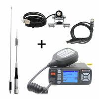 BAOJIE BJ-318 Mini Car UHF VHF Dual Band Mobile 2 Way Ham Radio with Antenna Set
