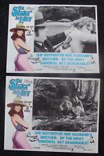 SISTER IN LAW Lobby card set JOHN SAVAGE ANNE SAXON 70s Sexplotation 1974