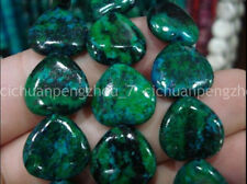 "Huge Natural 16x16mm Azurite Chrysocolla Heart-shape Gemstones Loose Beads 15"""