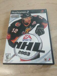 NHL 2003 PlayStation 2 PS2