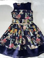 Ted Baker Girls Navy Dress Age 11 Good Condition.  AJ6