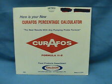 1 Vintage Calgon Curafos Graphic Calculator Pumping % Circular Slide Chart 1959