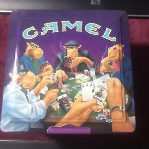 Camel Cigarettes Poker Set NIB Tin Chips Cards Sealed