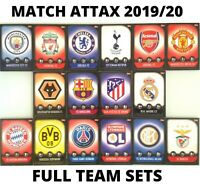 MATCH ATTAX 2019/20 19/20 FULL TEAM SETS BASE CARDS SETS LIVERPOOL MANCHESTER...