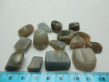 15 pc TUMBLED BLACK MOONSTONE15-20mm;50g.Feng Shui; Wicca;Metaphysical. #8