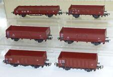 6 Roco Güterwagen: Om, Ommp50, Omm52, O, Rr20  H0 1:87