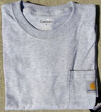 CARHARTT MEN'S  POCKET T-SHIRT - HEATHER GRAY - M