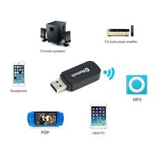 3,5 mm Bluetooth Wireless AUX Empfänger USB Adapter Dongle Musik Audio Stereo PC