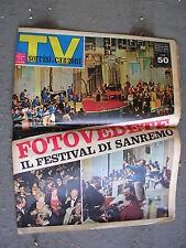 TV SORRISI e CANZONI #  7 - 18 FEBBRAIO 1962 - FESTIVAL DI SANREMO-DARIO FO RAME