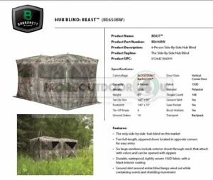 BE650BW Barronett Blinds The Beast Ground Hunting Blind HUGE Hunters Cabin ATV