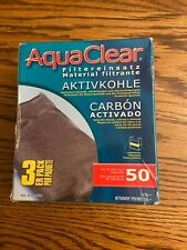 Aqua Clear 50 Carbon Insert 3 Pack Filter Media A1384 Brand New