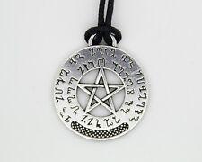 Pentagram Pentacle Theban Prosperity Prayer Wiccan Pagan Talisman Pendant