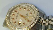 Rolex mens two tone diamond dial diamond Bezel 36mm Date just automatic watch