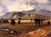 """Wonderful Oil painting view Moat Mountain Intervale New Hampshire canvas 36"""""""