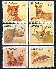 Zimbabwe 1989 Animals/Nature/Wildlife/Cheetah/Rhino/Hyena/Dog 6v set (n18751)