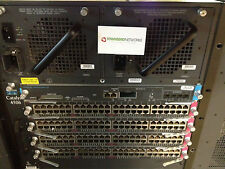 Cisco WS-C4506  w/ WS-X4516-10GE, (4) WS-X4148-RJ, Dual AC **Tested/Warranty**