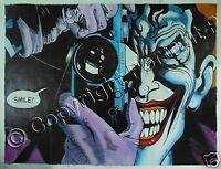 Batman Joker Oil Painting Art DC Comics Hand-Painted on Canvas NOT a Print 24x32