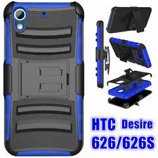 For HTC Desire 626/626S Holster Belt Clip Kickstand Hard Armor Hard Case Cover
