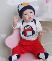 Bathable Realistic Baby Boy Dolls Silicone Full Body Newborn Dolls Posable Boys