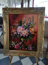 Ölgemälde Blumen Pflanzen Bild Bilder Gemälde Ölbilder Ölbild Mit Rahmen Sofort