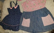 girls 18-24 months vest tunic dress top cute summer bundle denim ditsy next day
