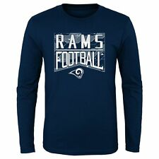 Outerstuff NFL Youth St. Louis Rams Energy Long Sleeve Tee, Navy