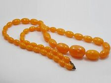 """ANTIQUE CHINESE GRADUATED BAKELITE BEADS NECKLACE 15 mm > 30 mm / 60.6 g / 31"""""""