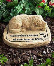 Pet Memorial Stone Grave Marker Garden Lost Dog Statue Decorative Remembrance