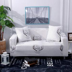 1 2 3 4 seat spandex sofa cover elastic sofa printed furniture protective cover