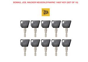 10 x BOMAG  JCB 14607 Master Plant Excavator Digger Dumper Keys