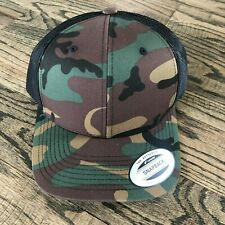 Yupoong® GREEN MultiCam Snapback Hat Camo Classic Adjustable Camouflage NWT!