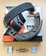 LAMBRETTA GP  BRAKE SHOES. MAKINO RACING NEW & IMPROVED INC STAINLESS SPRING.