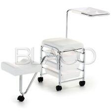 Carrello per estetica con seduta Pedicure Service Bianco XANITALIA Estetista