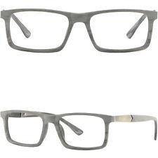 Square Herren Damen Brille Fassung Grau Eckig Brillengestell Gestell Federbügel