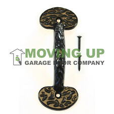 "Garage Door Decorative Colonial Lift Handle 6 1/4"" Cast Iron + Hardware"
